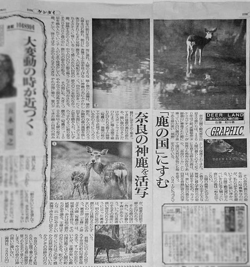 【 日刊ゲンダイ紙面に写真集を大きく掲載いただきました! 】
